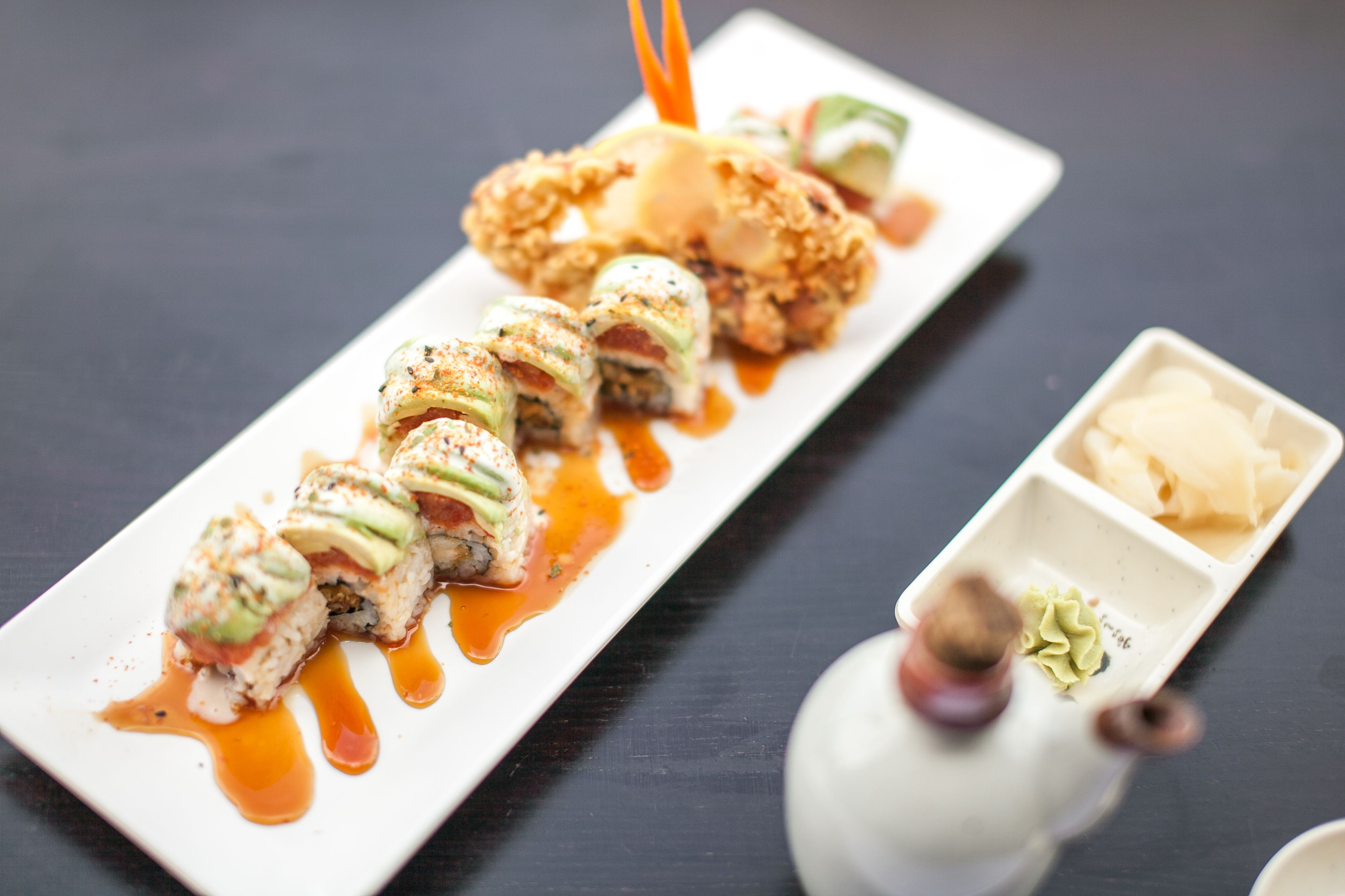 OMFG Roll #sushi #food #delicious #yummy #avocado #spicytuna #softshellcrab #yensushila #losangeles http://www.yensushila.com/ www.facebook.com/yensushila