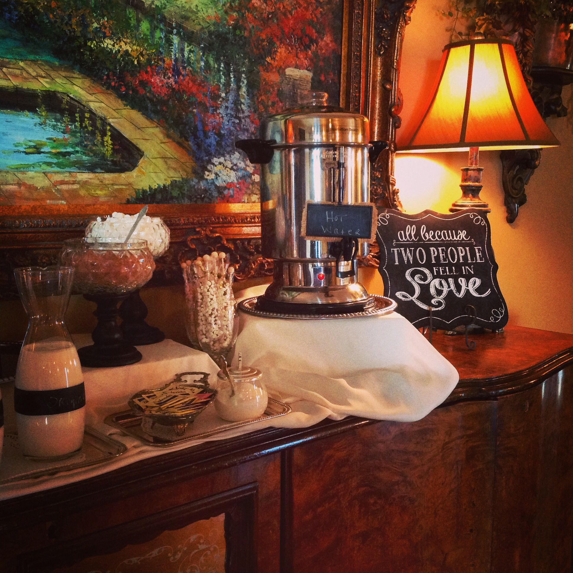 Hot chocolate station @ Che'ne Rouge Weddings Hiram, GA www.chene ...