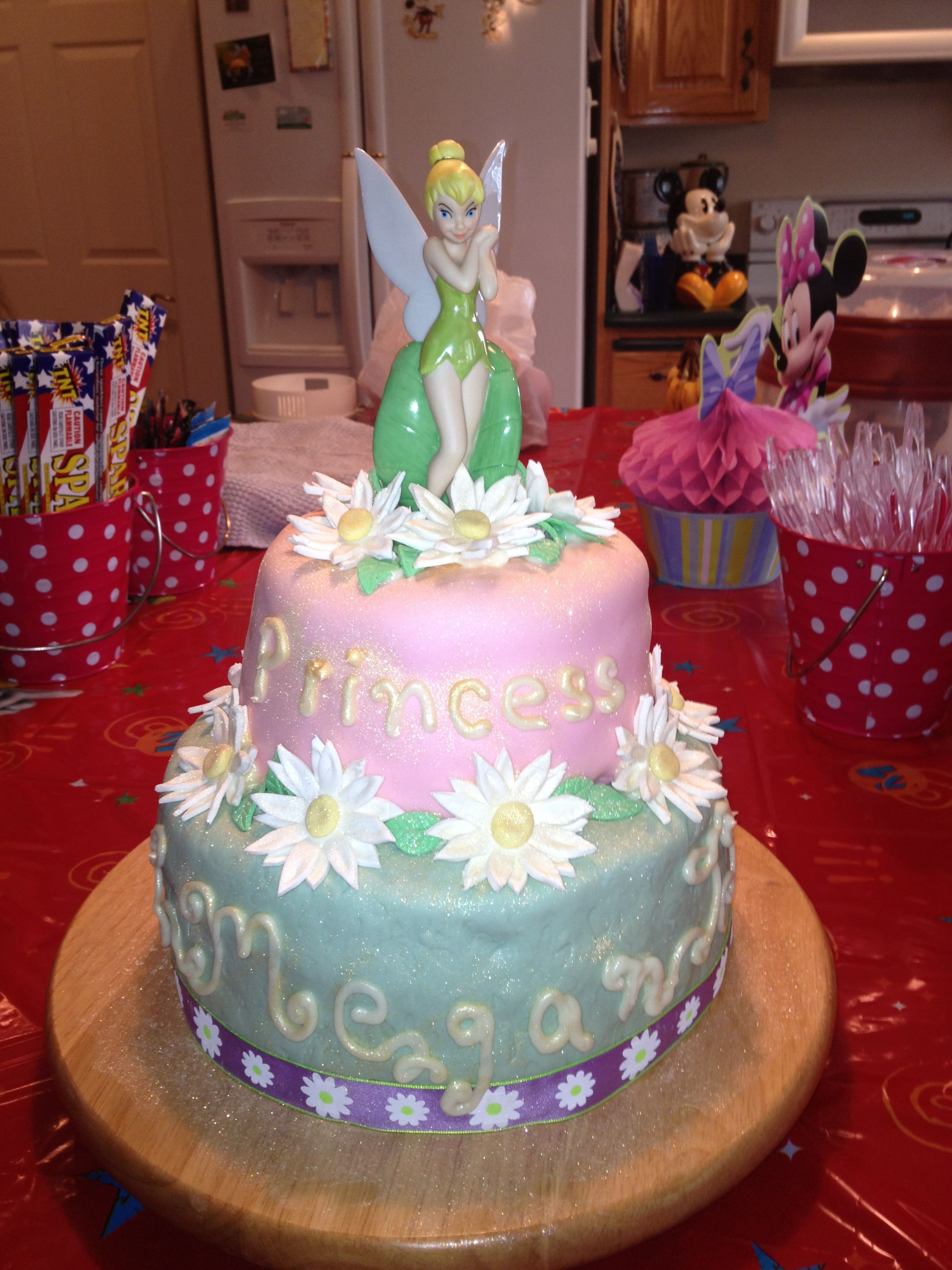 Tinkerbell Birthday Cake Disney Cake Tinkerbell