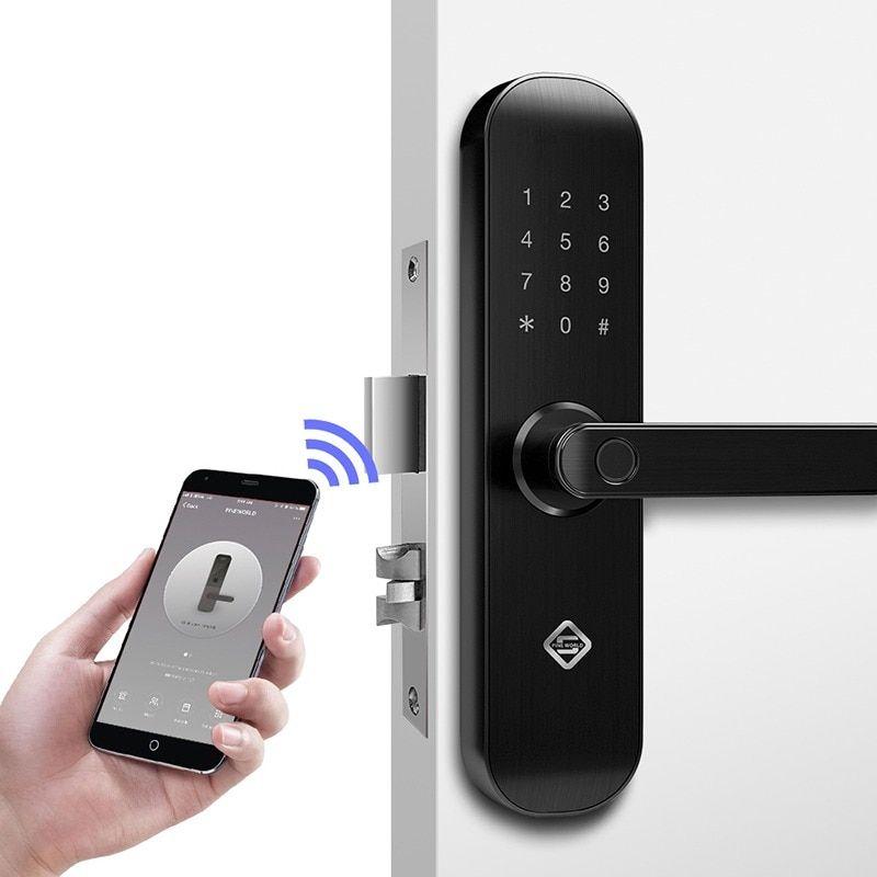 Smart Door Lock Wifi App Bluetooth Electronic Outdoor Waterproof Biometric Fingerprint Sca Fingerprint Door Lock Smart Door Locks Biometric Fingerprint Scanner