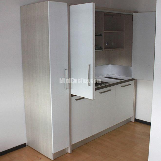 Cucine moderne per piccoli spazi: monoblocco cucina a scomparsa ...