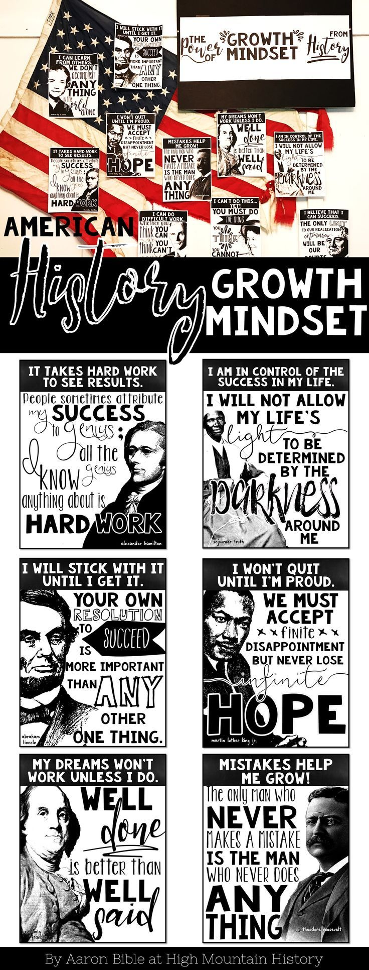 Photo of American History Growth Mindset Posters and Activity