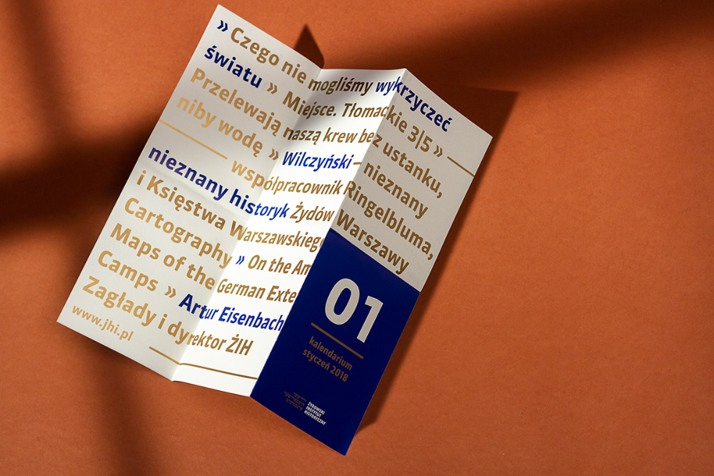 Jewish Historical Institute leaflet on Behance in 2020
