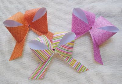 zakka life: Craft: Easy Paper Bows