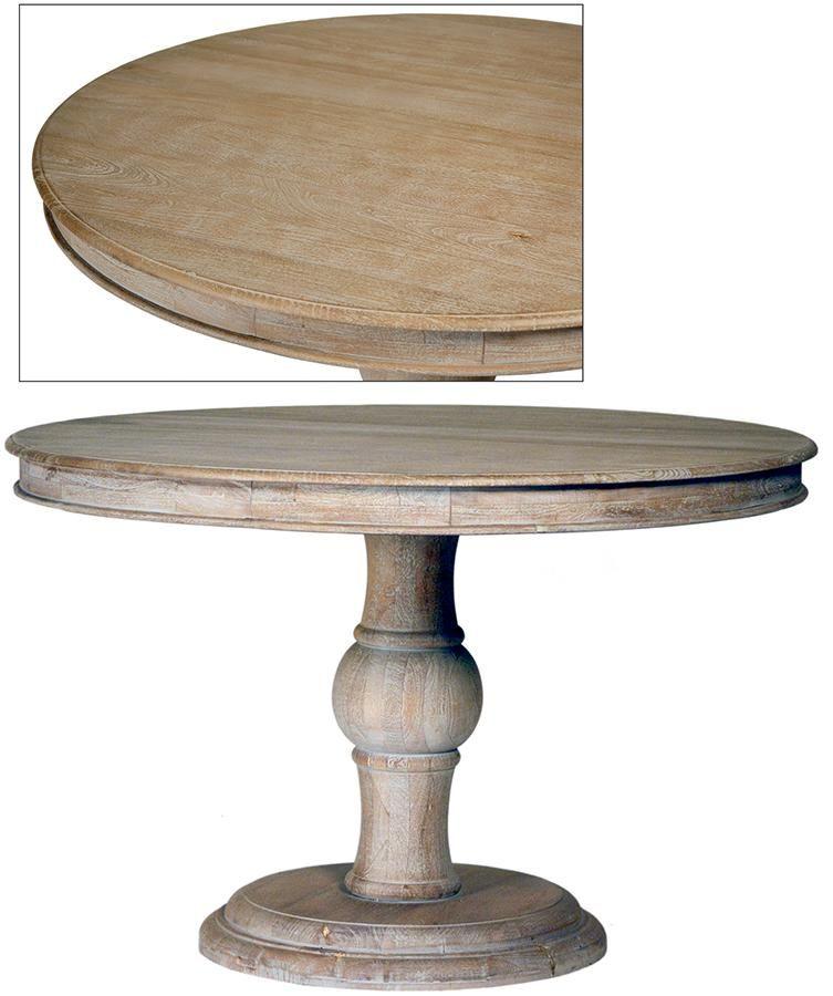 Antonio 47 Round Dining Table Grey Wash Dining Table Round