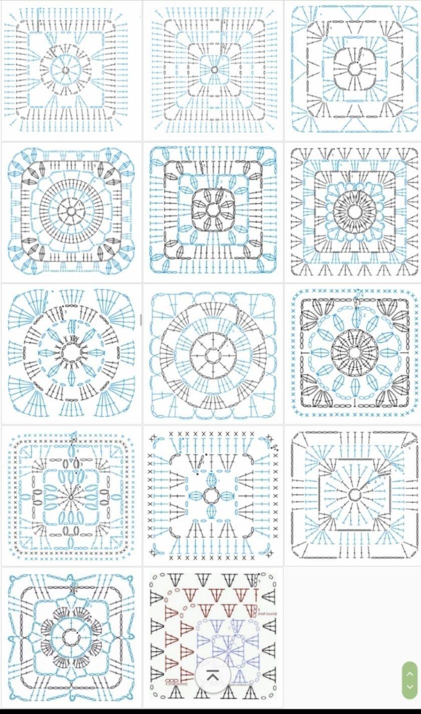 Beautiful granny square with pattern | Grannys | Pinterest ...