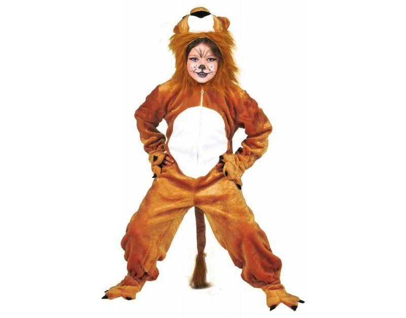 Kostüm für Kinder Overall Löwe Karneval Fasching