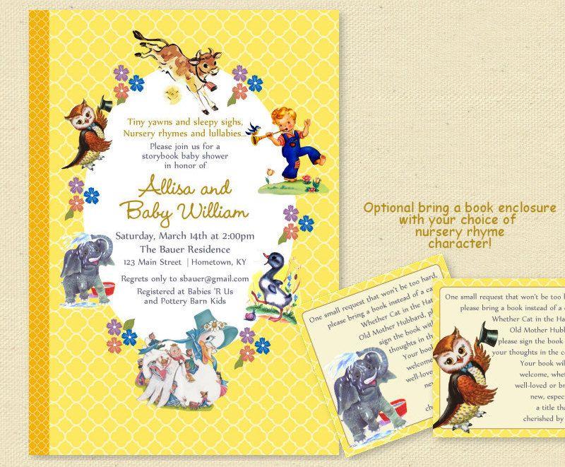 Baby Shower Nursery Rhyme Storybook by sunnysideprintparty on Etsy
