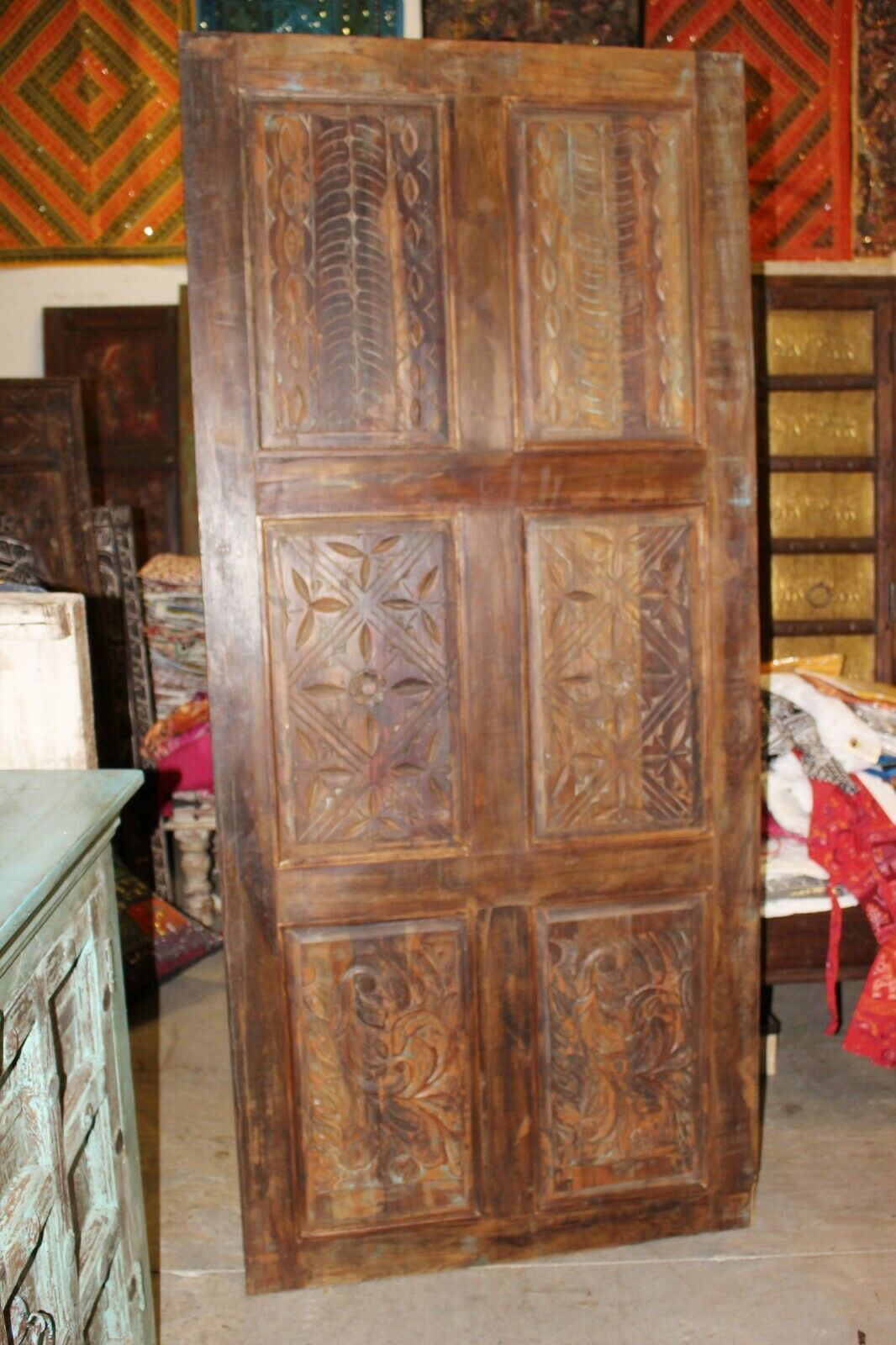 Antique cARVED bARN dOOR Brown Old Wooden Door Panel bedroom