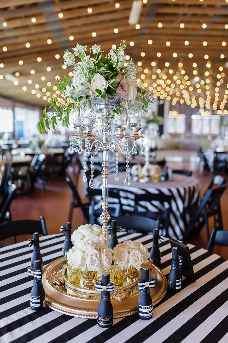 Wedding decor images zimbabwe  Candelabra With Draping Greenery  Lori Douglas Photography