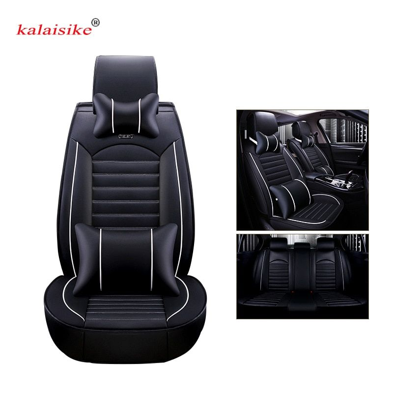 Kalaisike Leather Universal Car Seat Covers For Ford All Models