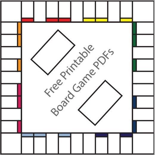 Free Printable Board Game Templates  Board Gaming And School