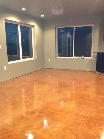 Diy Stained Concrete Flooring Over Gypcrete Underlayment Duraamen Concrete Stained Floors Stained Concrete Polished Concrete Flooring