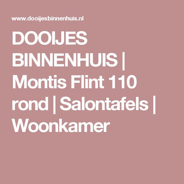 DOOIJES BINNENHUIS | Montis Flint 110 rond | Salontafels | Woonkamer