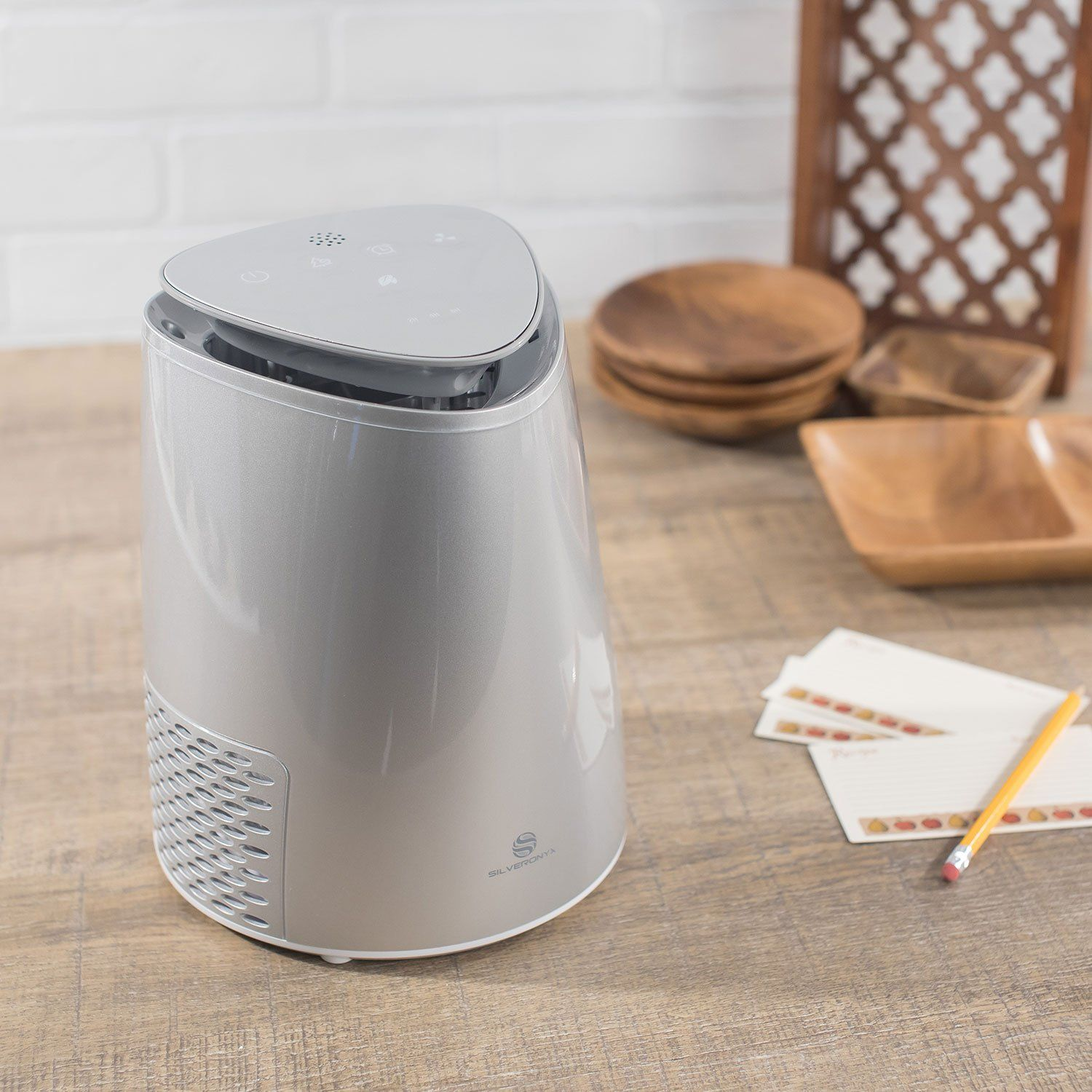 SilverOnyx 3 in 1 Air Purifier True HEPA Carbon Filter Air