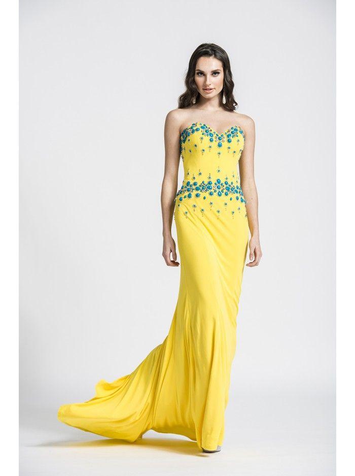Ashley Lauren 1054 Prom Dress   Yellow Dresses   Pinterest   Prom ...