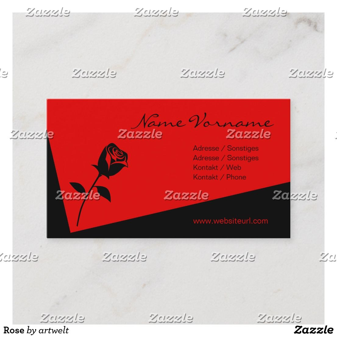 Rose Visitenkarte Zazzle De Visitenkarten Karten
