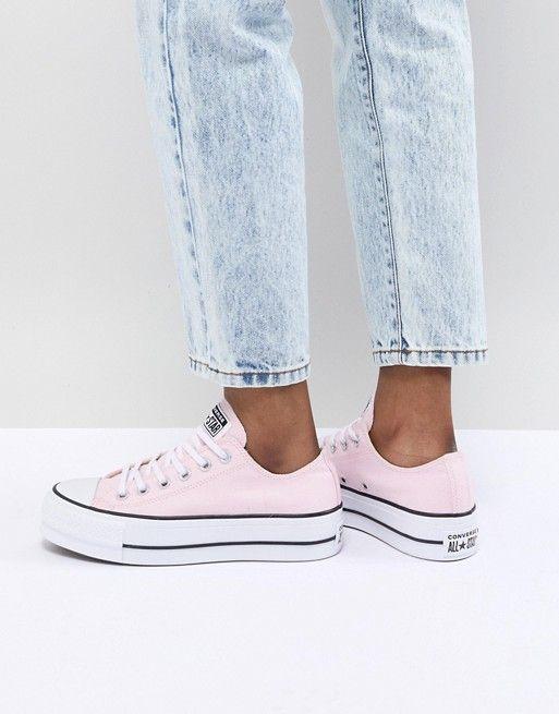 3fee9e847f4 Zapatillas de deporte con plataforma en rosa Chuck Taylor All Star ...