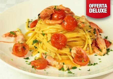 P.to Recanati: Pranzo o cena di pesce con: aperitivo, antipasti, primo, secondo, contorno, sorbetto, bevande...a soli 36 € invece di 68