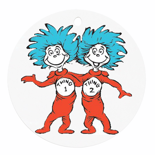Thing 1 Thing 2 Round Ornament 9989 909 Png 500 500 Thing One Thing Two Dr Seuss Thing 1 Thing 2