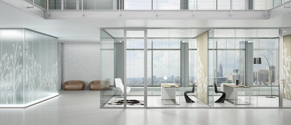 Frosted Partition PARTITII DE STICLA Glass Office