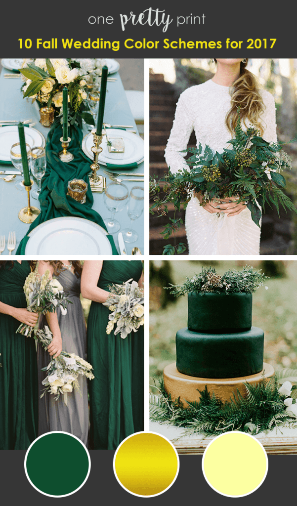 10 Amazing Wedding Color Palettes For Fall 10 amazing wedding color palettes for fall fall wedding