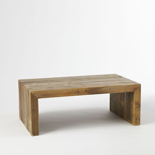 Emmerson 174 Reclaimed Wood Coffee Table Stone Gray Coffee