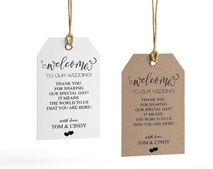 Welcome Wedding Tag, Wedding Welcome Bag Tag, Wedding Welcome Gift