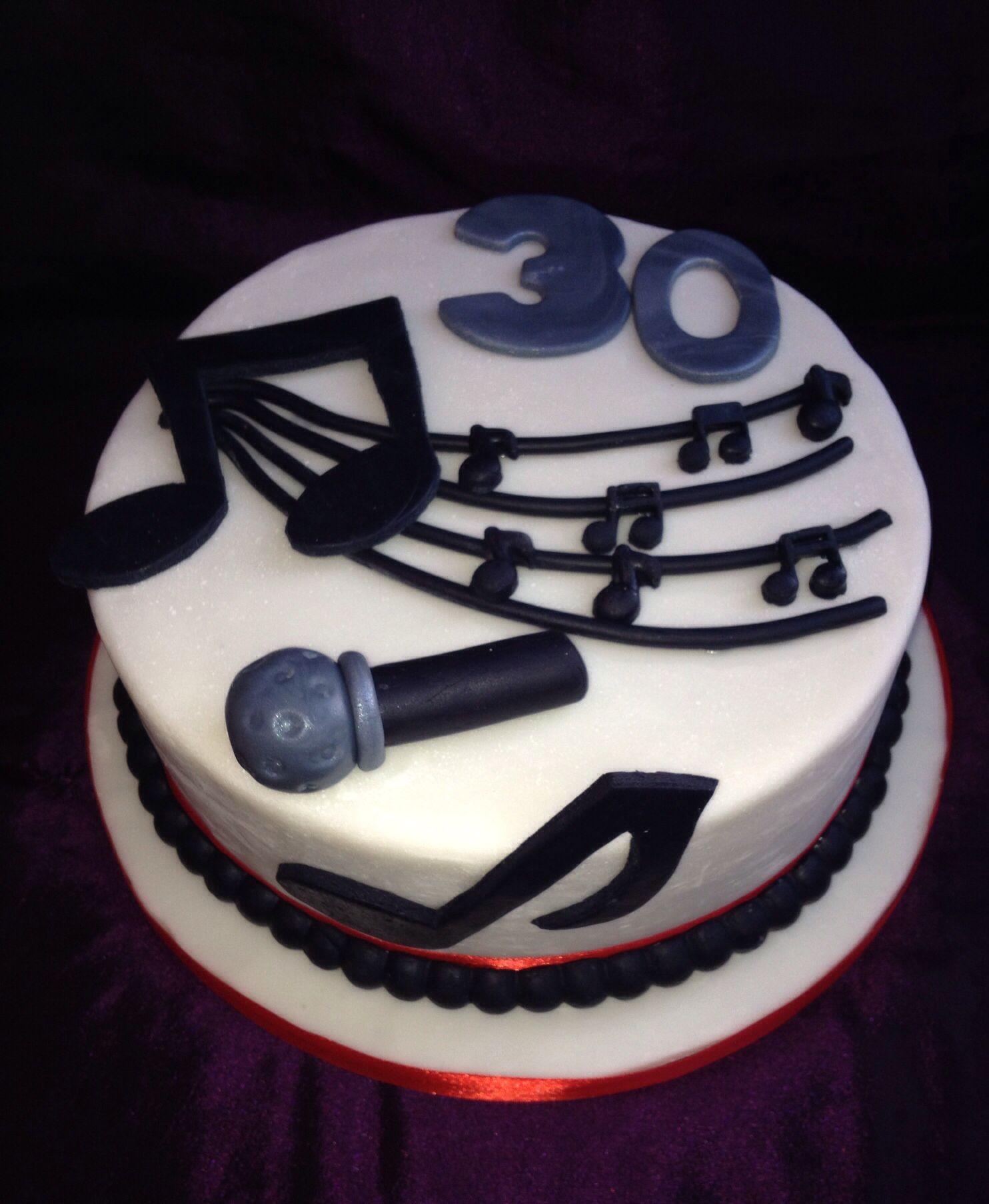 Musical Cake Microphone Cake