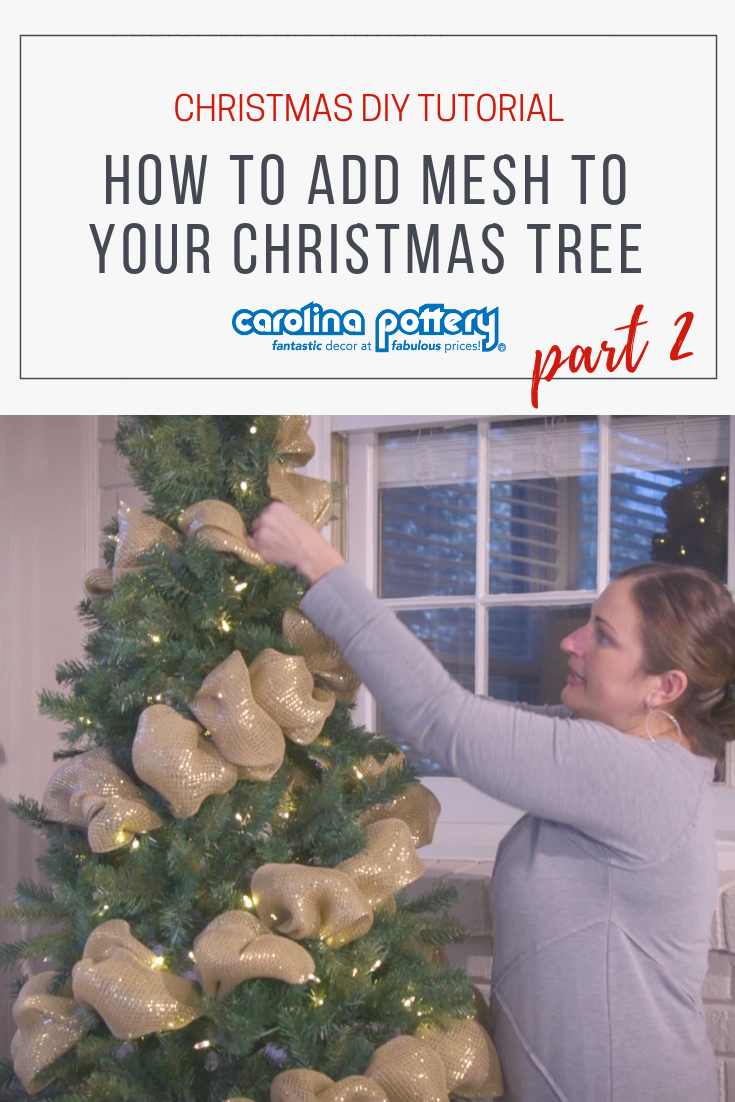 How To Decorate Your Christmas Tree With Mesh Pt 2
