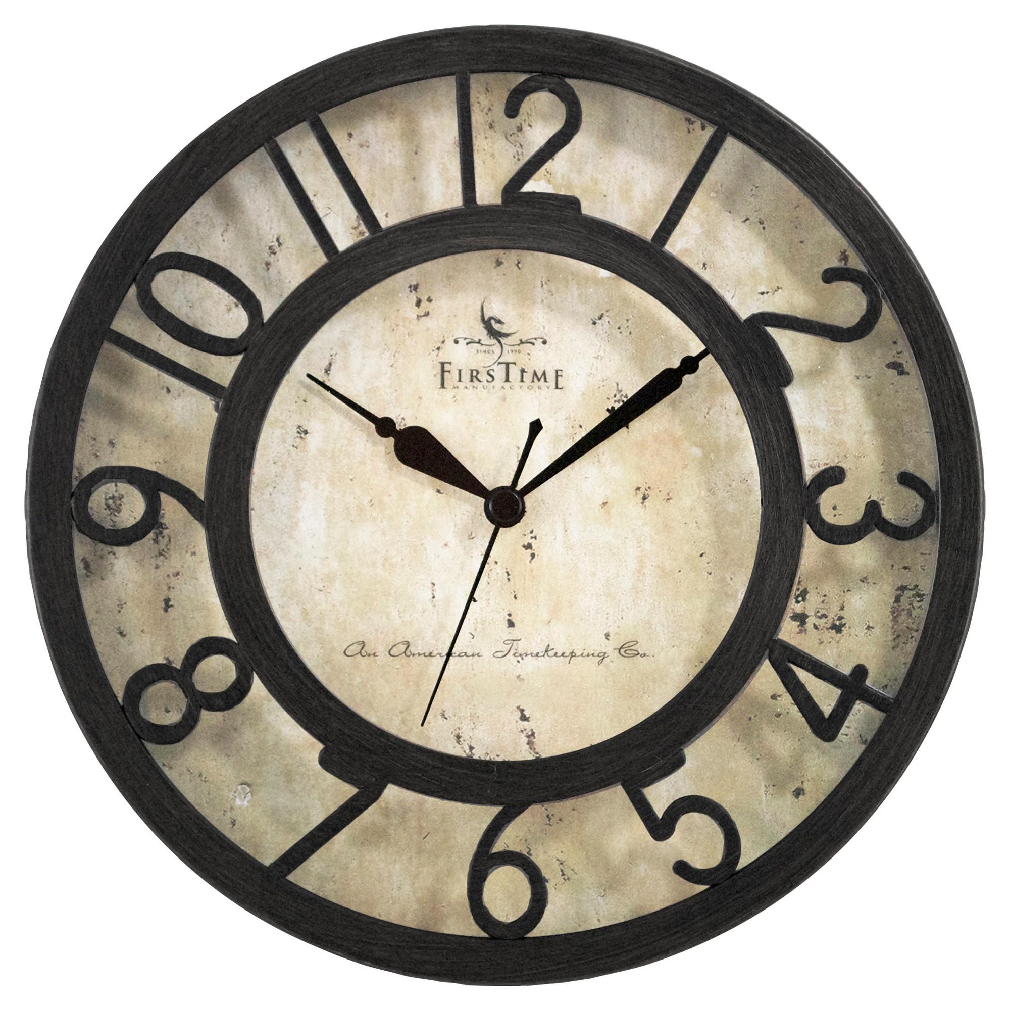 Raised Number Round Wall Clock Oil Rubbed Bronze 8 Firstime Wall Clock Clock Round Wall Clocks Oil rubbed bronze wall clock