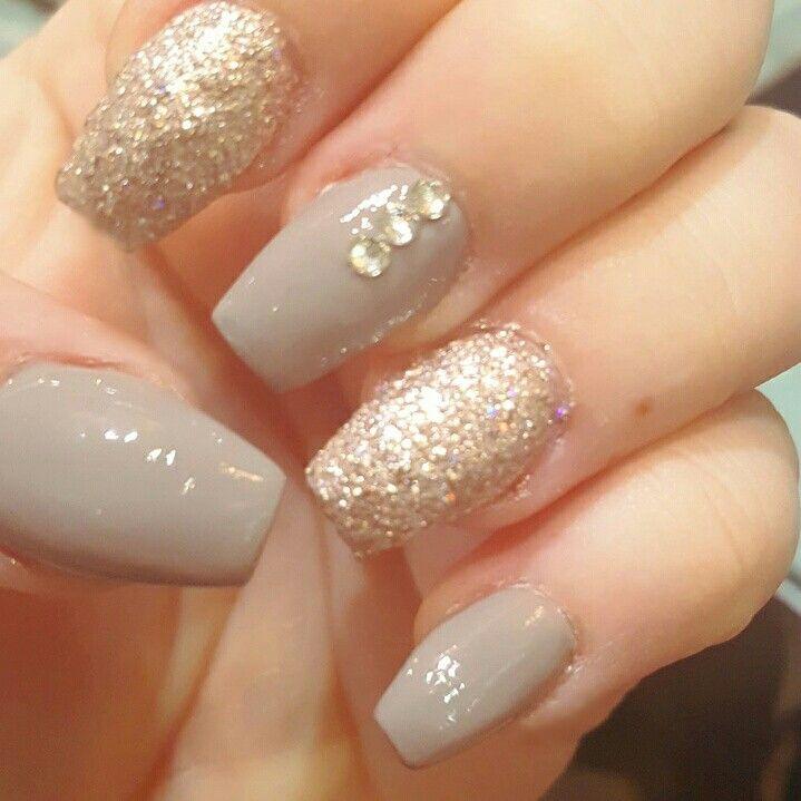 Fall Glitter Nail Designs: Fall Nails. Fall Nail Designs. Glitter. Nails. Diamonds