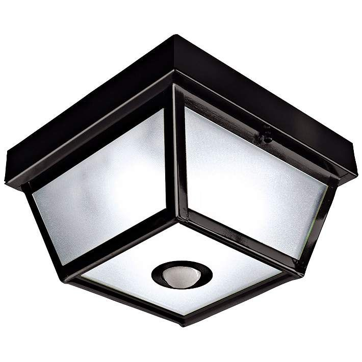Benson Black 9 1 2  Wide Motion Sensor Outdoor Ceiling Light   Style     Benson Black 9 1 2  Wide Motion Sensor Outdoor Ceiling Light    H7013    Lamps Plus