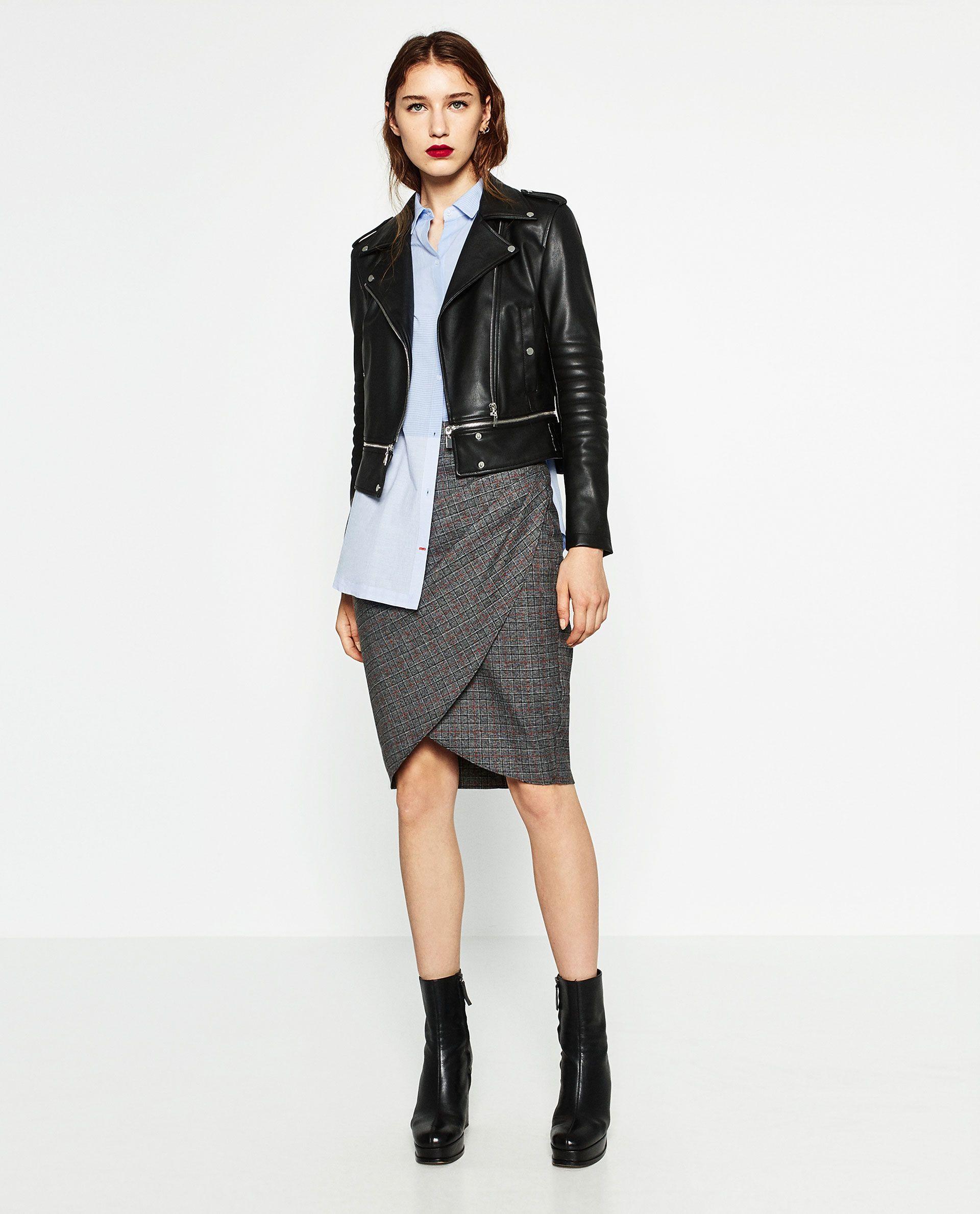 Cuir Tout Femme Effet Mode France Zara Voir Ma Manteaux Blouson gqO5xw
