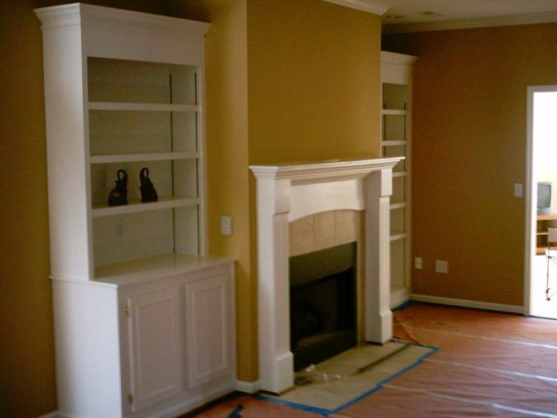 Bookcases Around Fireplace Family Room | House Flip Ideas / Bookcase For  Around The Fireplace