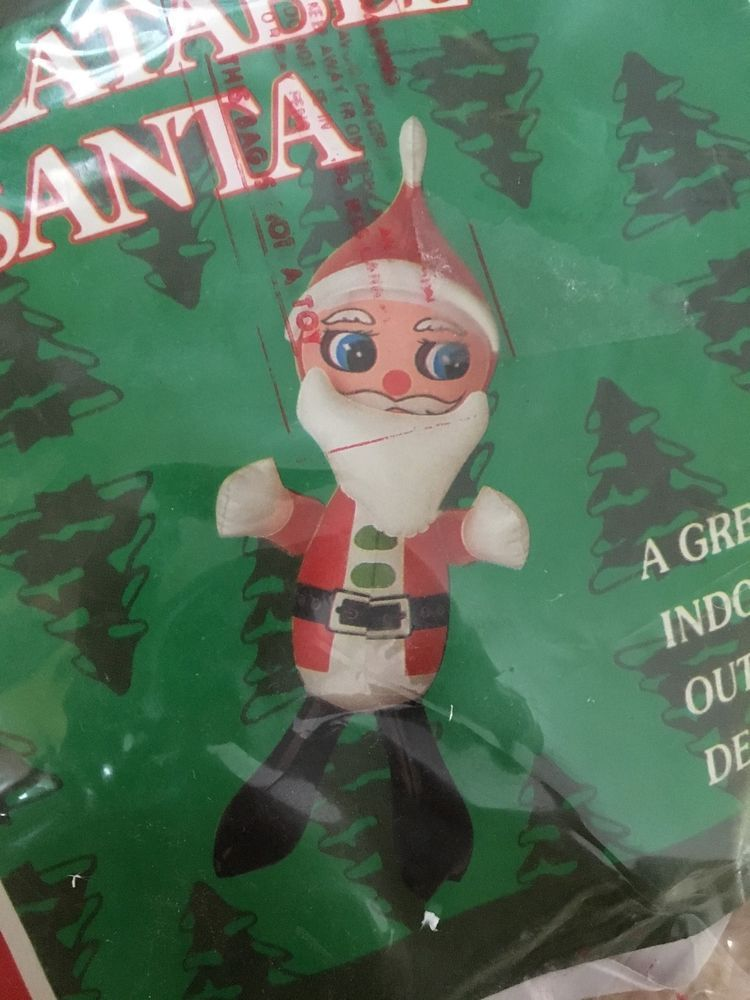 Vintage 25\u201d Christmas Inflatable Indoor - Outdoor Santa Claus NEW