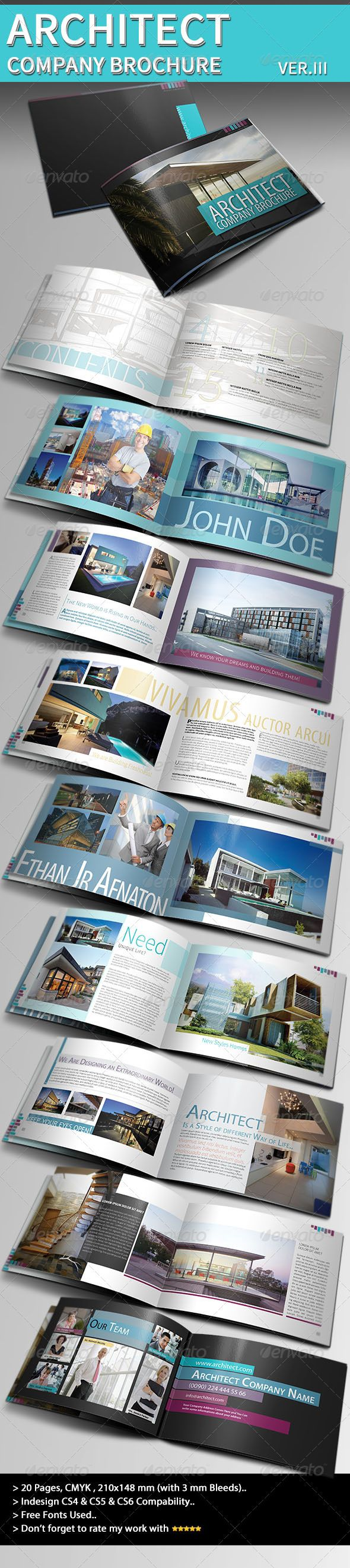 Architecture Brochure Template VerIii  Brochure Template