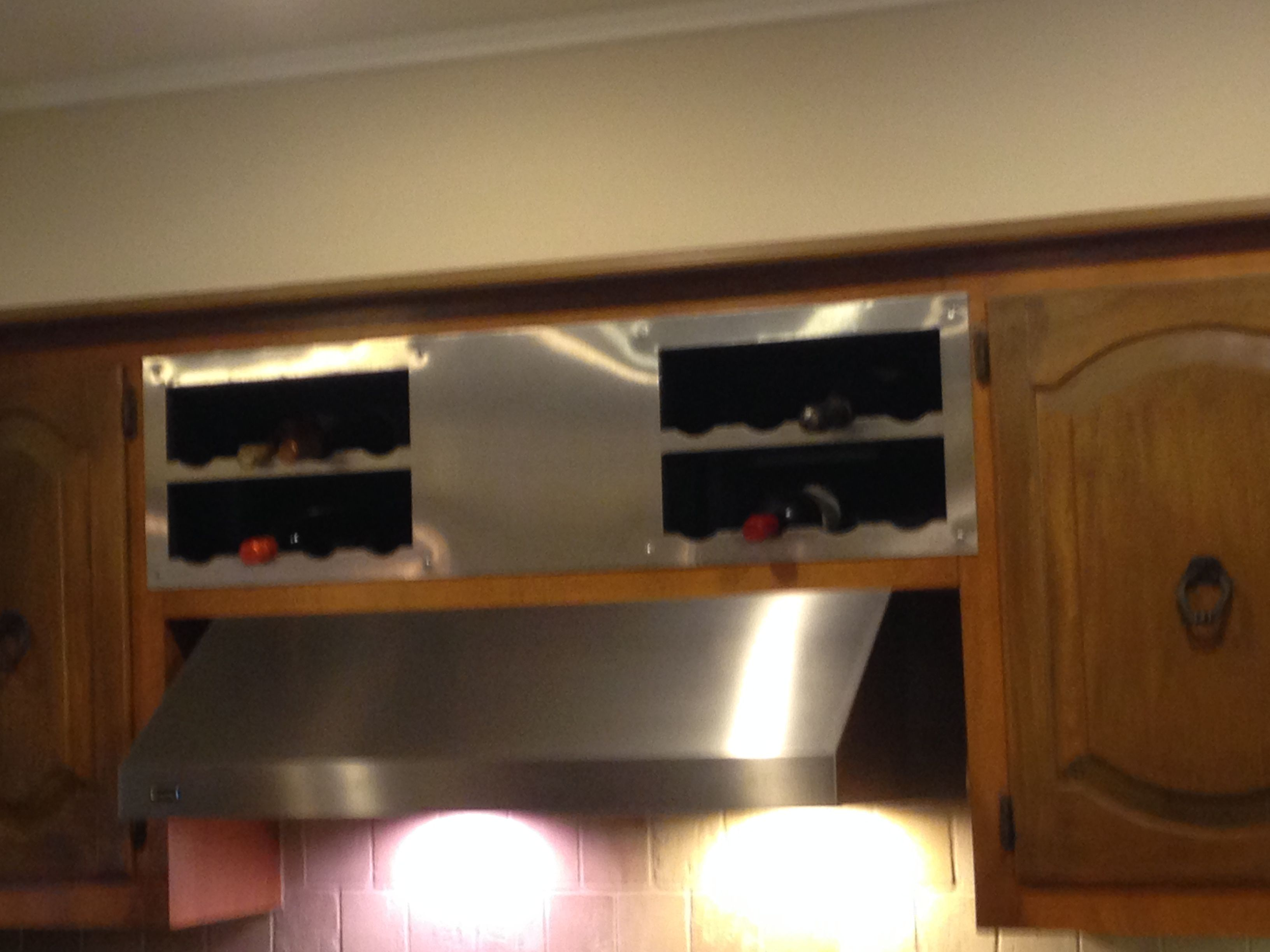 Never know what to put in those cabinets over your stove? Good idea