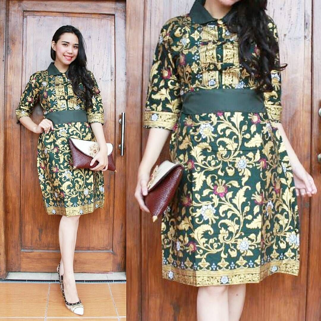 Model Baju Batik Dress Pesta | model baju dress ...