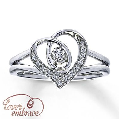 """Loves Embrace Sterling Silver 1/10 Carat t.w. Diamond Ring.      """" You will always be surrounded by the strength of My Love""""  In memory of those in heaven and GOD's strength to carry on..."""