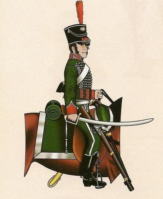 Olivenza 1808 Cazadores. Tropa