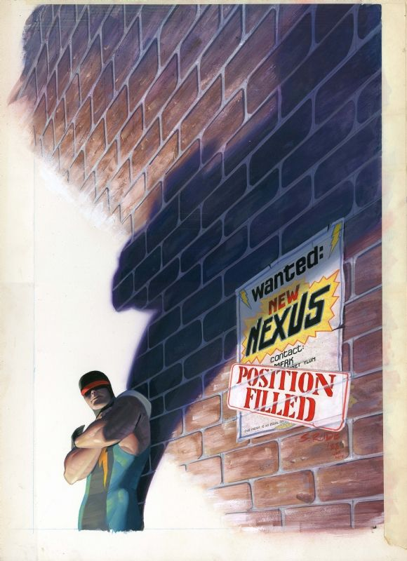 Steve Rude Nexus 58 painted cover Comic Art