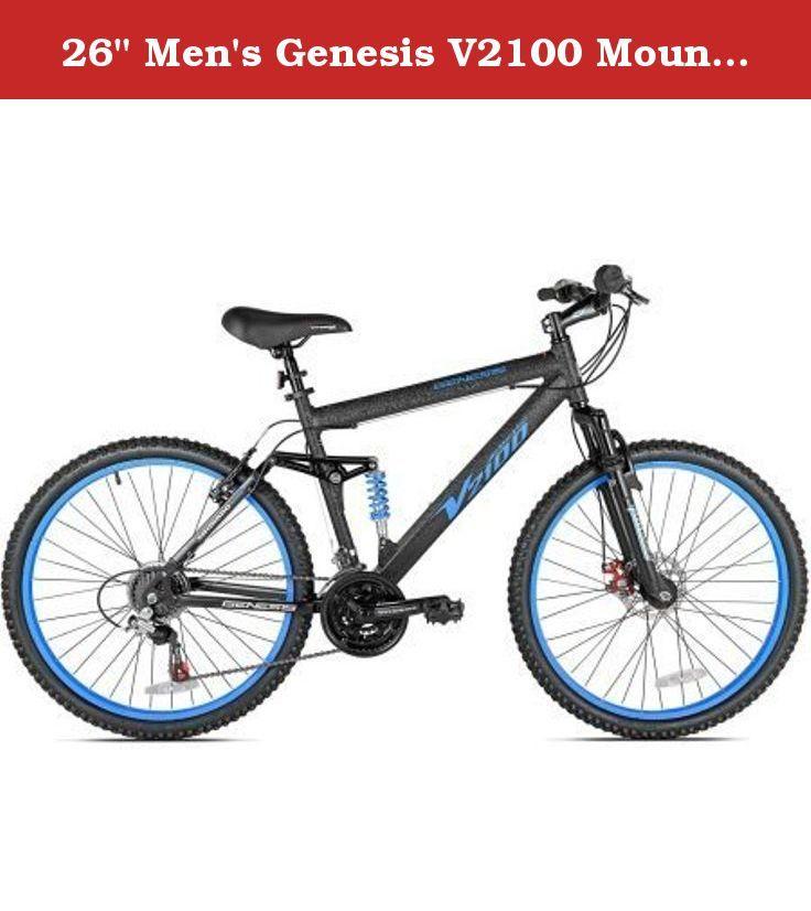 26 Men S Genesis V2100 Mountain Bike 4 Bar Linkage Aluminum