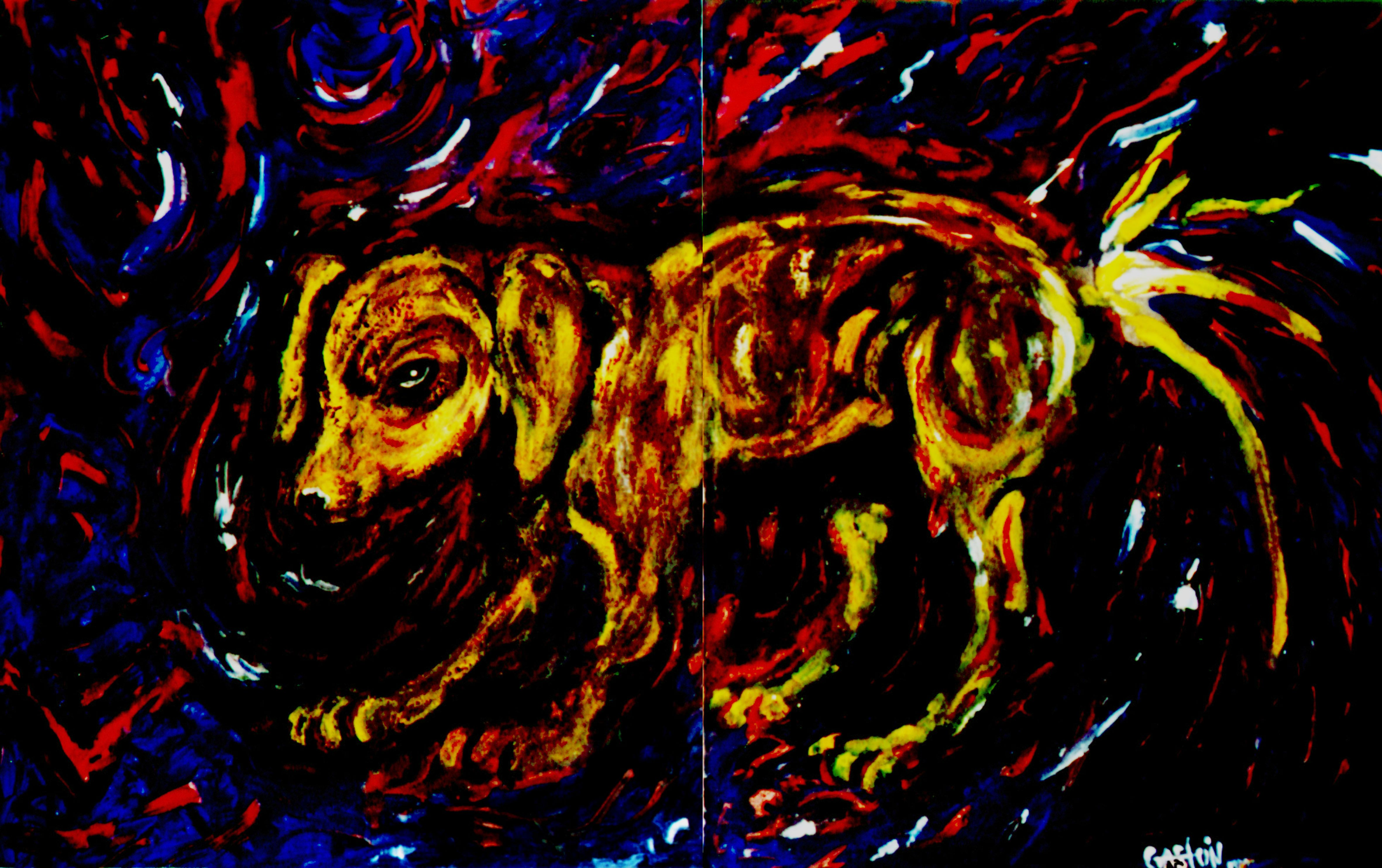 """""""Dog"""" Acrílico/tela 50x70cm"""