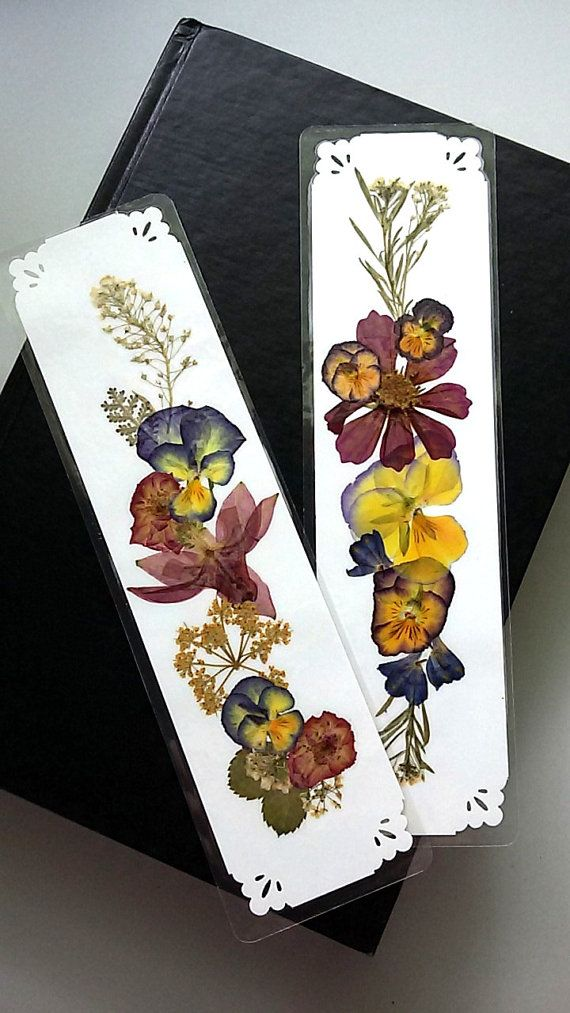 PRESSED FLOWER BOOKMARKS Handmade One of a Kind by MyHumbleJumble