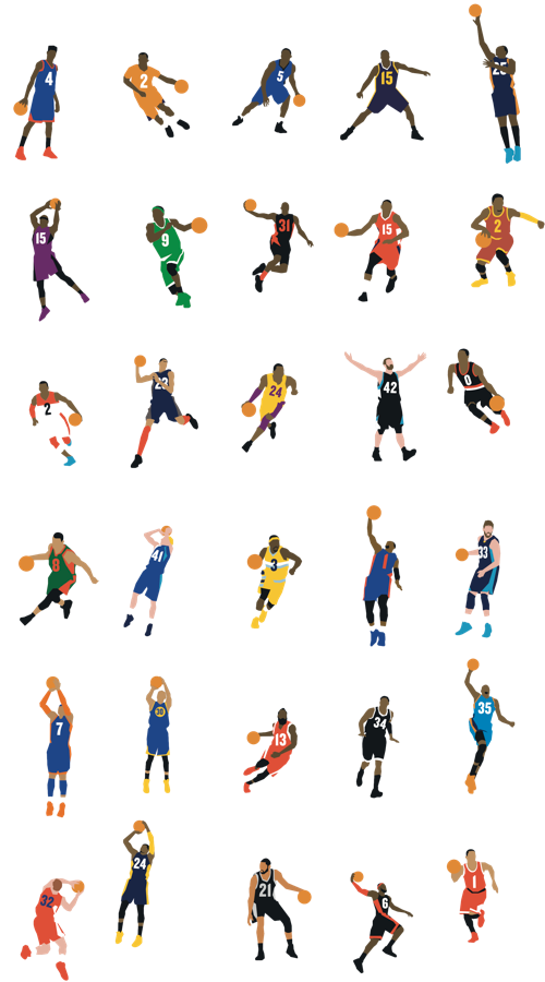 Nba Players I Recognize Kyrie Rajon D Cuz Wall Love Lillard Dirk Lawson Amare Marc Kobe Melo Steph Harden Pie Nba Players Nba Basketball Art Nba
