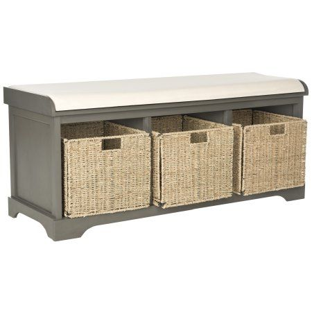 Pleasing Free Shipping Buy Safavieh Lonan Storage Bench At Walmart Theyellowbook Wood Chair Design Ideas Theyellowbookinfo