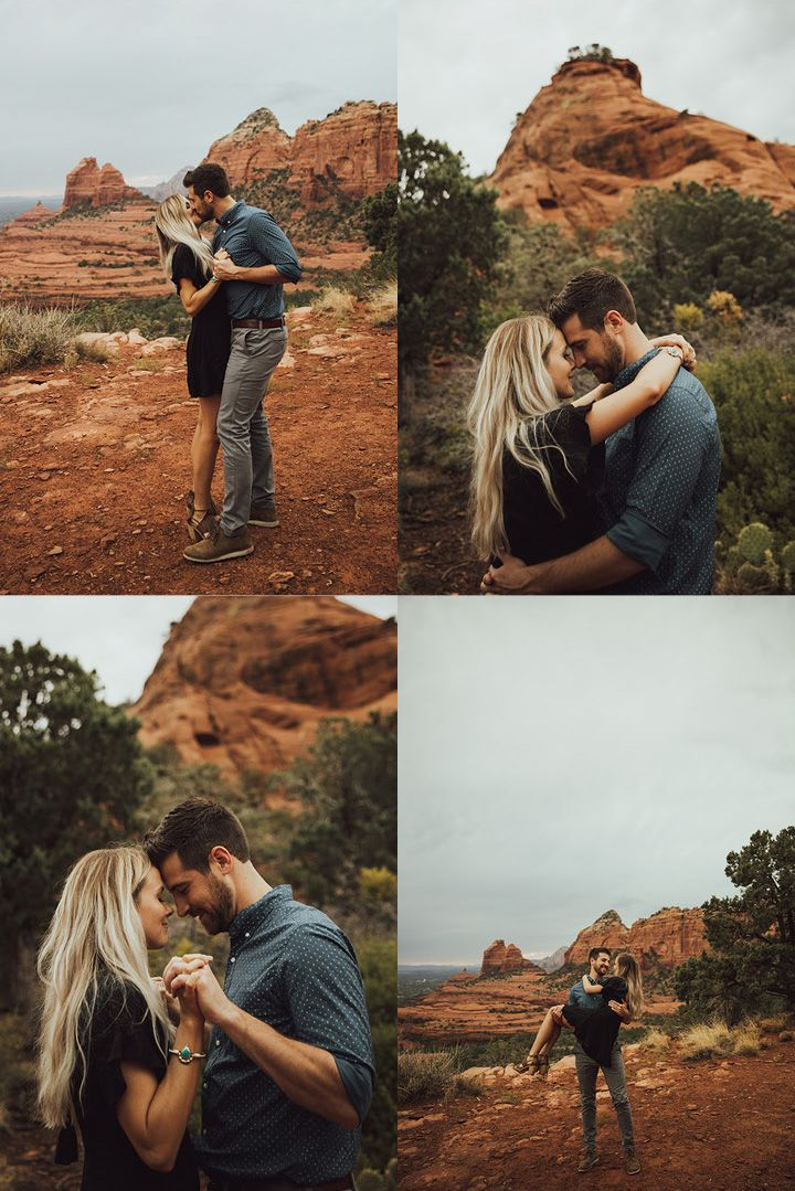 Merry Go Round Rock Engagement Session with Jane in the Woods – Arizona Weddings