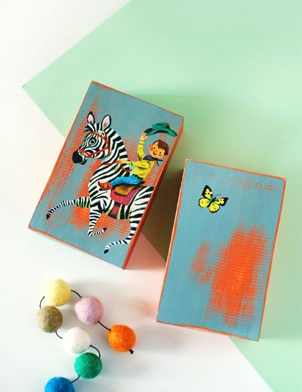 Tutorial: How to make vintage storybook blocks. Photo and styling by Lisa Tilse for We Are Scout.