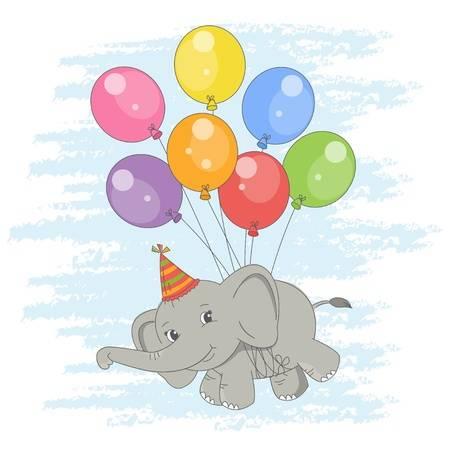 Stock Vector | Cute baby elephant, Elephant illustration